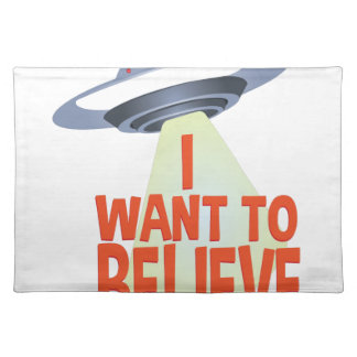 Want To Believe Placemat