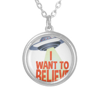 Want To Believe Silver Plated Necklace
