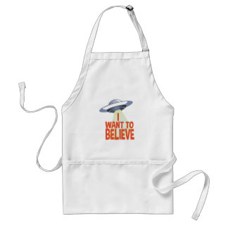 Want To Believe Standard Apron
