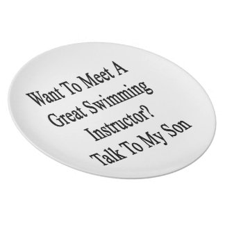 Want To Meet A Great Swimming Instructor Talk To M Plates
