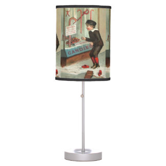 Wanted - A Boy To Lick Christmas Candy Cane Table Lamp