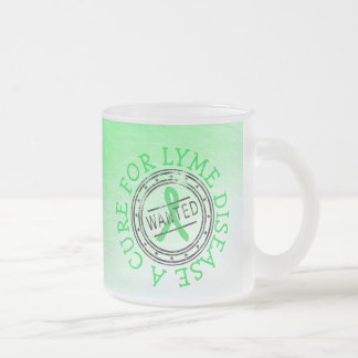 Wanted: A Cure for Lyme Disease Frosted  Mug