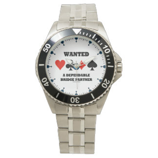 Wanted A Dependable Bridge Partner Four Card Suits Watch
