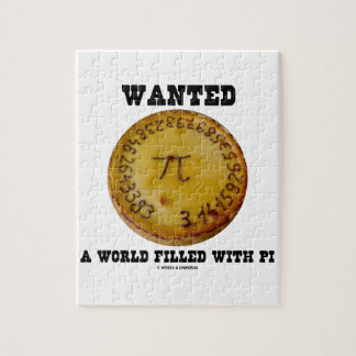 Wanted A World Filled With Pi (Pi Pie Math Humor) Puzzles