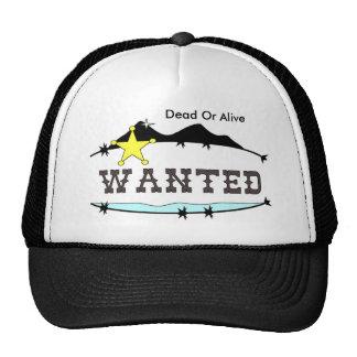 Wanted Baseball cap Trucker Hat