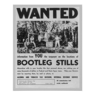 Wanted: Bootleg Stills, 1949. Vintage Poster