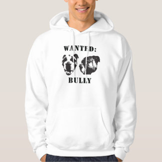"""Wanted: Bully"" english bulldog Hooded Sweatshirt"