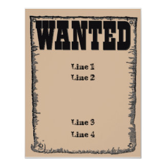 Wanted Card