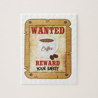 Wanted Coffee Jigsaw Puzzle