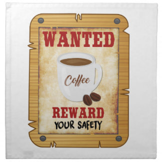 Wanted Coffee Napkin
