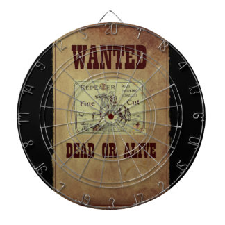 Wanted Dead or Alive Dartboards