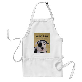 Wanted dead or alive standard apron