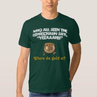 WANTED: Leprechaun & His Gold! T-shirts