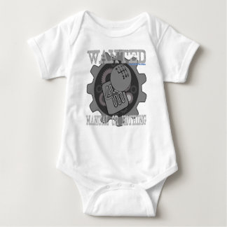 wanted manual or nothing(gearbox) baby bodysuit