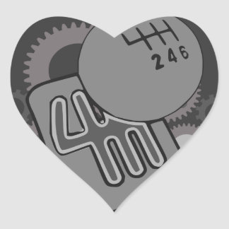 wanted manual or nothing(gearbox) heart sticker