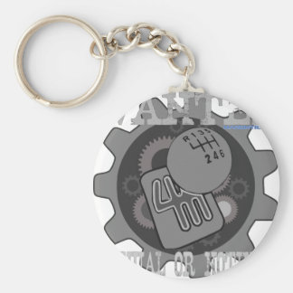 wanted manual or nothing(gearbox) keychain
