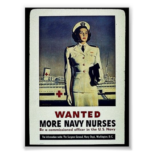 Wanted More Navy Nurses Poster
