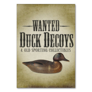 Wanted - Old Duck Decoys Card