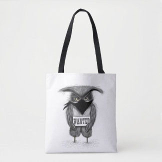 wanted owl tote bag