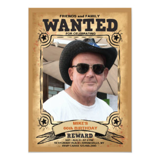 Wanted Photo Frame Invitation