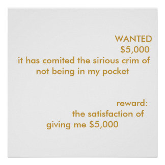 WANTED   ... POSTER