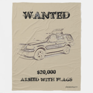 WANTED Poster 2 Blanket for Pilot Car