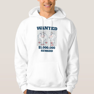Wanted Poster Abominable Snowman Hoodie