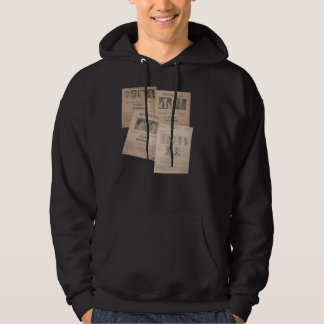 wanted poster collage cool hoodie design