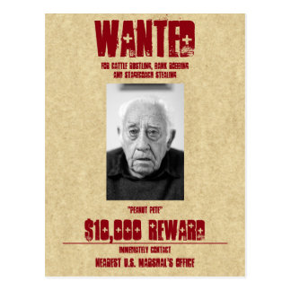 Wanted Poster Custom Template Postcard