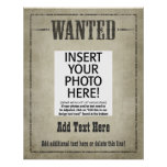 WANTED POSTER: customize this! Poster