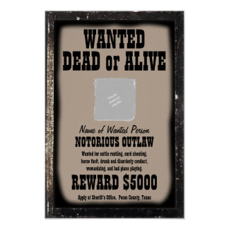 WANTED POSTER - Make Your Own Customized