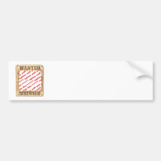 WANTED Poster Photo Frame Bumper Sticker