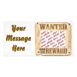 WANTED Poster Photo Frame Photo Card