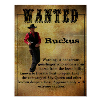 Wanted Poster Ruckus