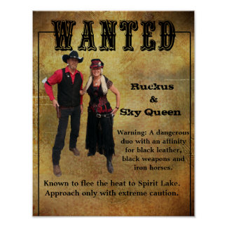 Wanted Poster Ruckus & Sky Queen