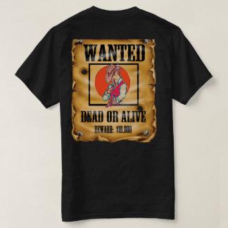 wanted poster six gun outlaw cowboy T-Shirt