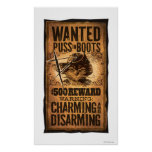 Wanted Puss in Boots Poster