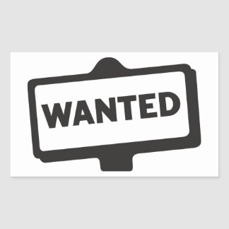 Wanted Sign Stickers
