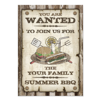 Wanted Style BBQ Invitations