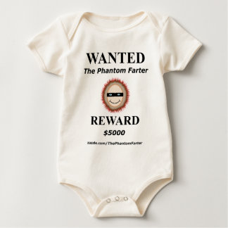 WANTED The Phantom Farter (Baby) Baby Bodysuit