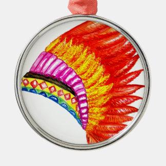 War Bonnet Art Metal Ornament