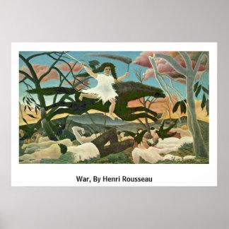 War, By Henri Rousseau Posters