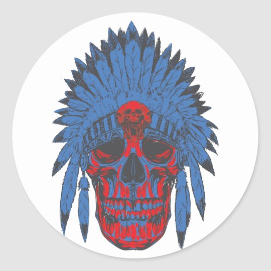 War Chief II Classic Round Sticker
