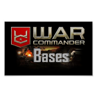 War Commander Bases Small Poster