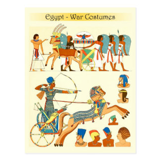 War Costumes and Headgears of Egypt Postcard