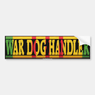 War Dog Handler Vietnam Service Ribbon Sticker