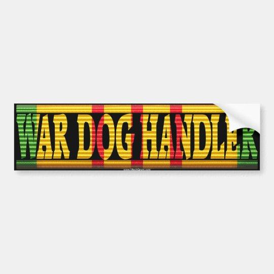 War Dog Handler Vietnam Service Ribbon Sticker