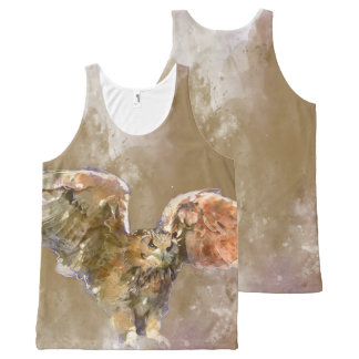 War Eagle water color Art All-Over-Print Tank Top