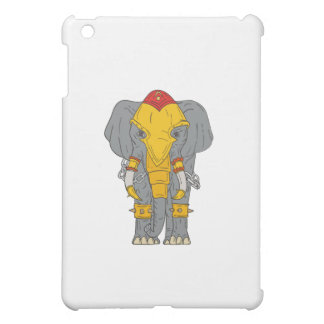 War Elephant Drawing Case For The iPad Mini