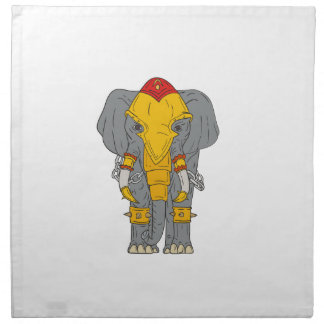War Elephant Drawing Napkin